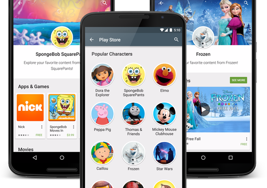 Google Play Store gets a family friendly section